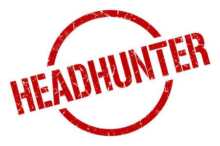 headhunter red round stamp