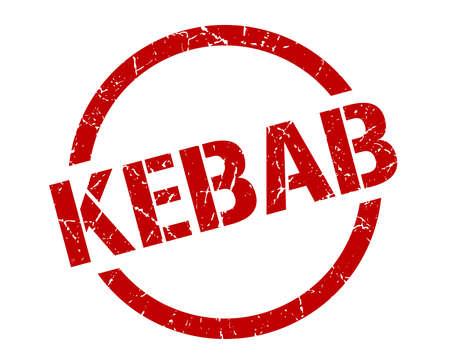 kebab red round stamp