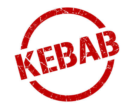 timbre rond rouge kebab