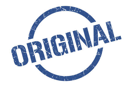 original blue round stamp