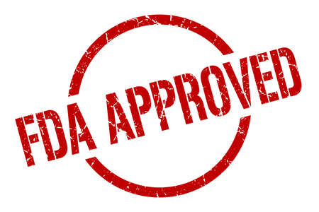 fda approved red round stamp