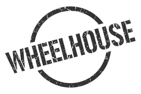 wheelhouse black round stamp