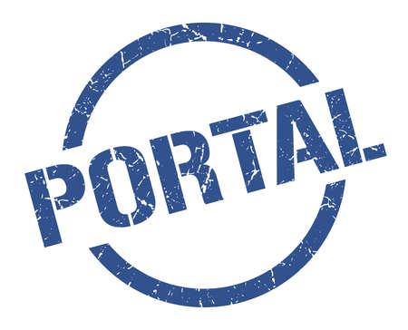 portal blue round stamp