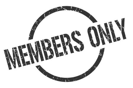 members only black round stamp