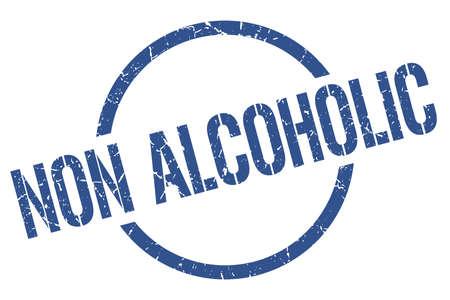 non alcoholic blue round stamp