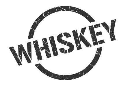 whiskey black round stamp