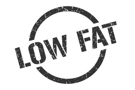 low fat black round stamp