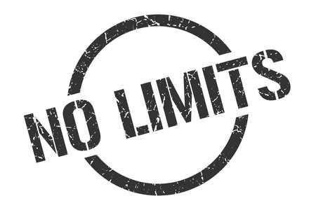 no limits black round stamp