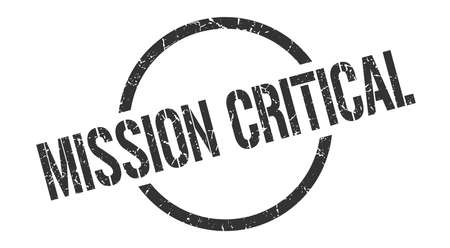 mission critical black round stamp