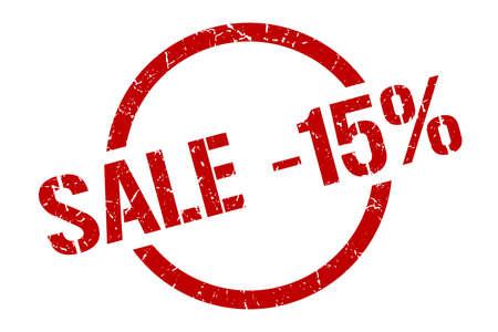 sale -15% red round stamp