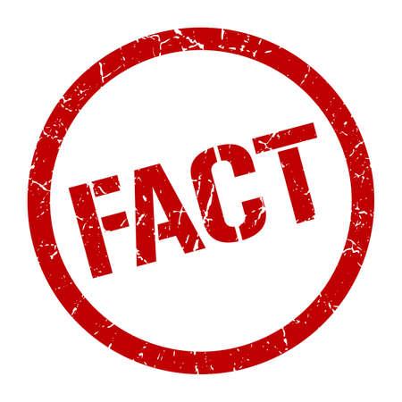 fact red round stamp