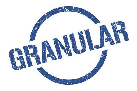 granular blue round stamp  イラスト・ベクター素材