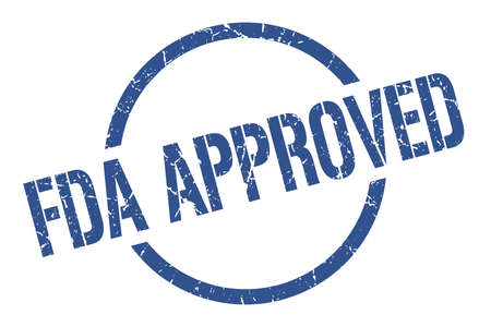 fda approved blue round stamp