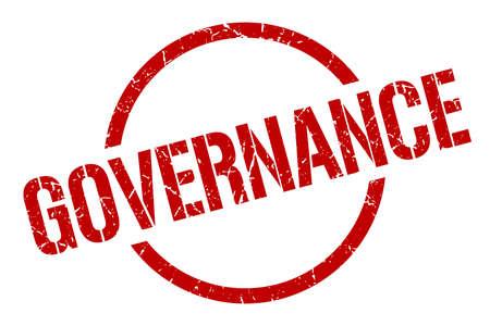 governance red round stamp Çizim