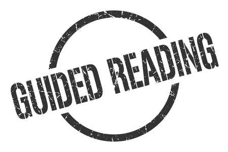 guided reading black round stamp Illusztráció