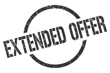 extended offer black round stamp