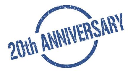 20th anniversary blue round stamp Ilustração