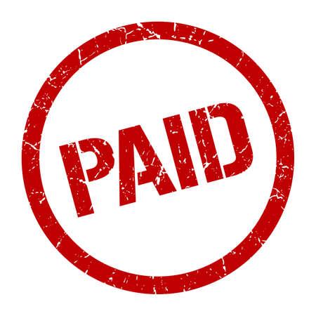 paid red round stamp Illustration