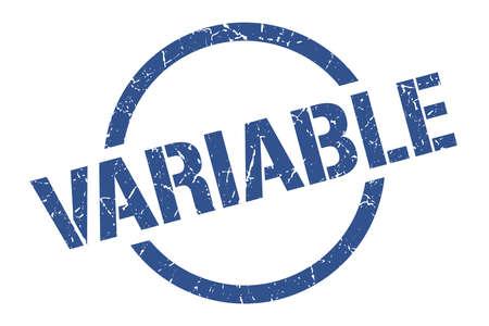variable blue round stamp Illusztráció