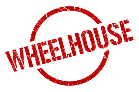 wheelhouse red round stamp Illustration