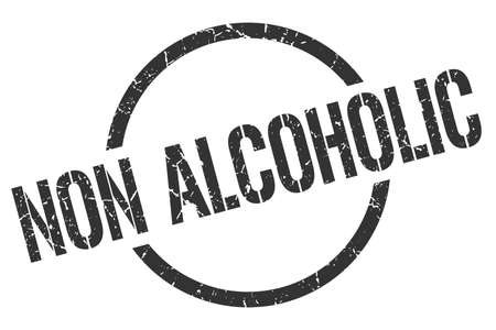 non alcoholic black round stamp Illustration