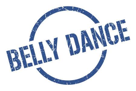 belly dance blue round stamp