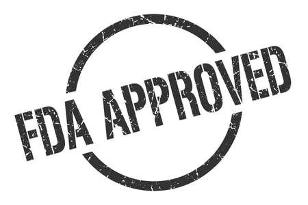 fda approved black round stamp Illustration