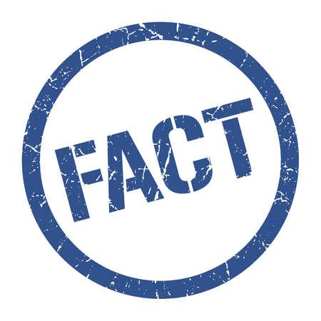 fact blue round stamp