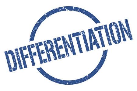 differentiation blue round stamp