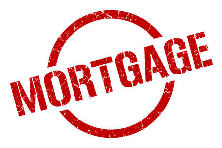 mortgage red round stamp Illustration