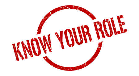know your role red round stamp