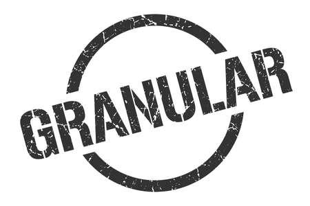 granular black round stamp