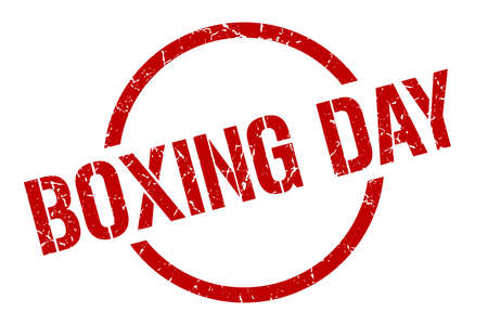 boxing day red round stamp Illustration