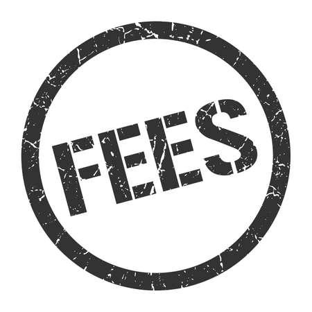 fees black round stamp