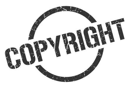copyright black round stamp