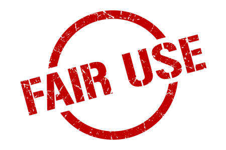 fair use red round stamp