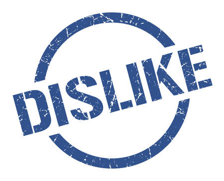 dislike blue round stamp Vectores