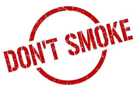 dont smoke red round stamp