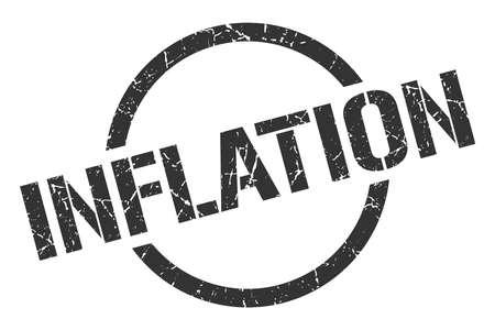 inflation black round stamp