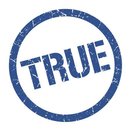 true blue round stamp