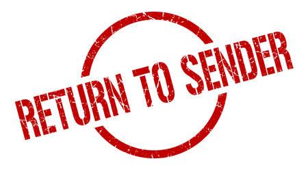 return to sender red round stamp