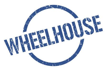 wheelhouse blue round stamp Illustration