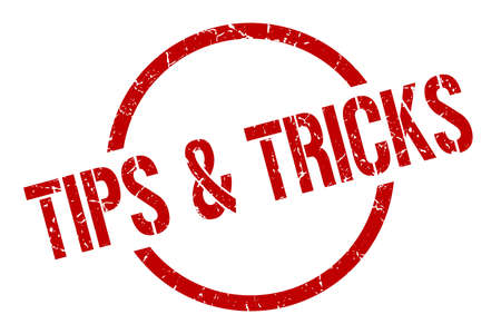 tips & tricks red round stamp