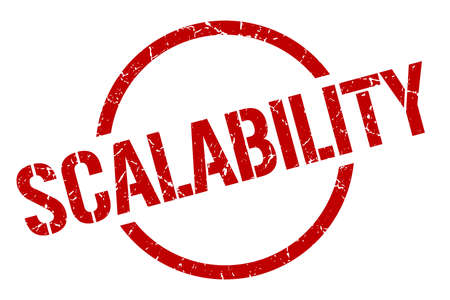 scalability red round stamp