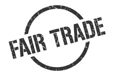 Fair Trade schwarzer runder Stempel