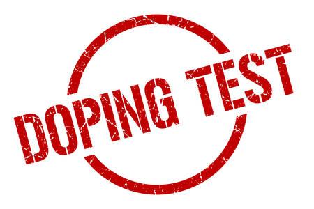 doping test red round stamp Illustration