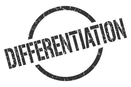 differentiation black round stamp