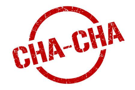 cha-cha red round stamp