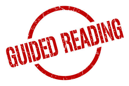 guided reading red round stamp Illusztráció