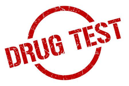 drug test red round stamp Illustration
